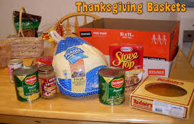 Thanksgiving basket contents